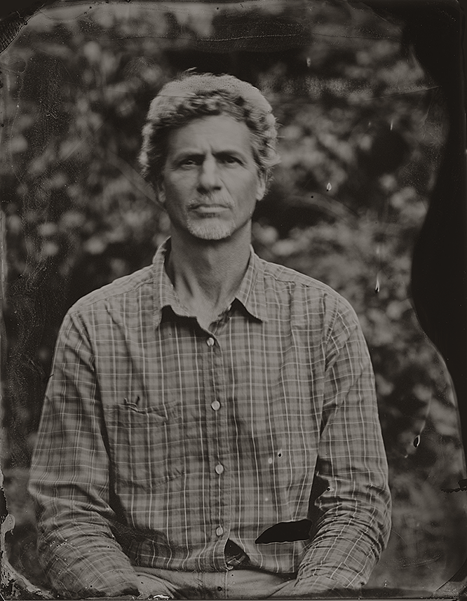 A tintype photo of Greg Britz