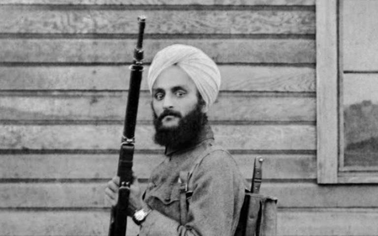 Bhagat Singh Thind in U.S. Army uniform. Smithsonian Institution