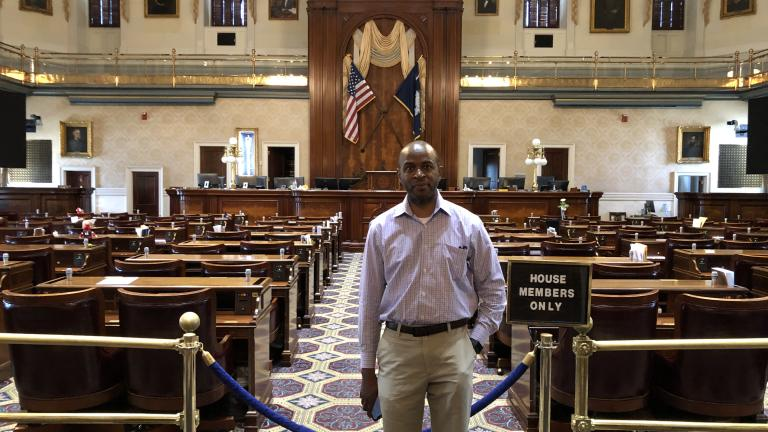 Historian Bobby Donaldson of the University of South Carolina, at the South Carolina State House, Columbia, SC. Photo by John B