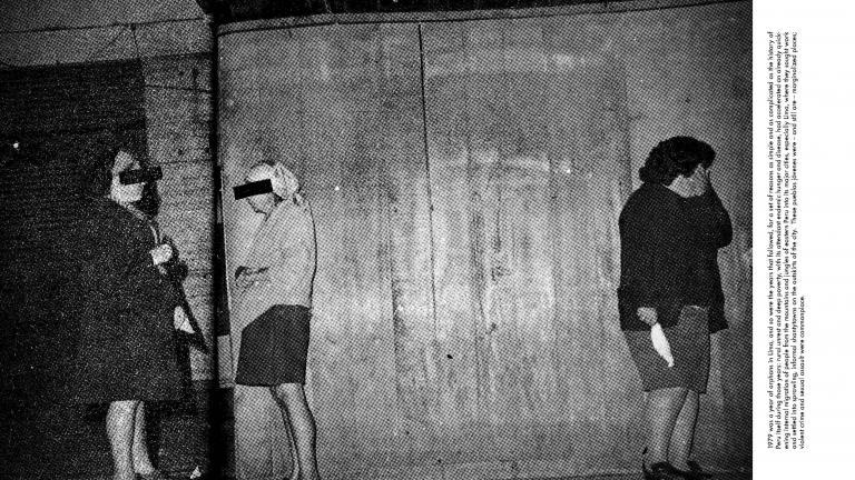 Three Women Standing, July 1979, Lima, Peru, 2018. Image by 2020 Lange-Taylor Prize winner Tarrah Krajnak.
