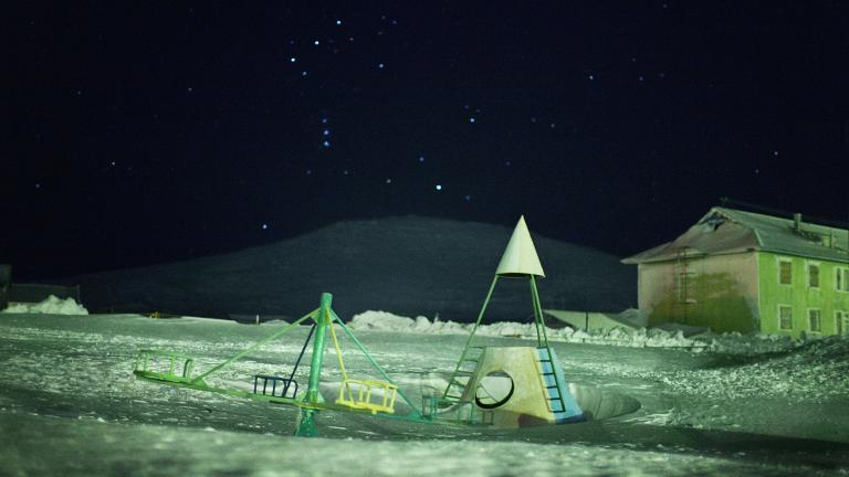 Playground during Polar night.