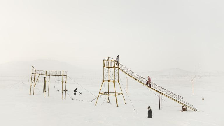 Playground in tundra.