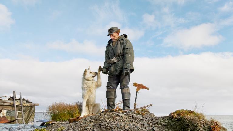 Uncle Vanya and his dog Shake.