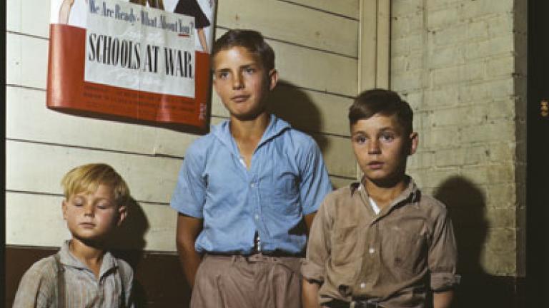 JOHN VACHON. Rural school children, San Augustin County, Texas. April 1943.