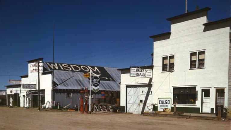 JOHN VACHON. Wisdom, Montana. April 1942.