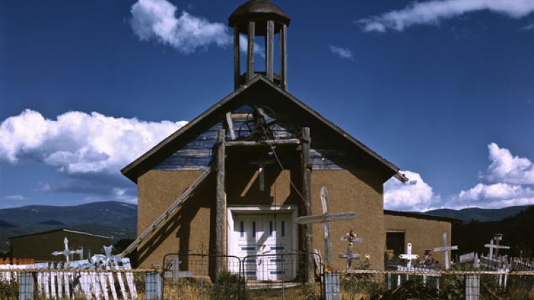 RUSSELL LEE. Llano de San Juan, New Mexico, Catholic Church. July or October 1940.