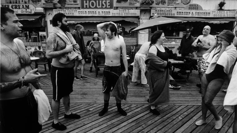 People on Boardwalk, 1998. Photograph by Harvey Stein.