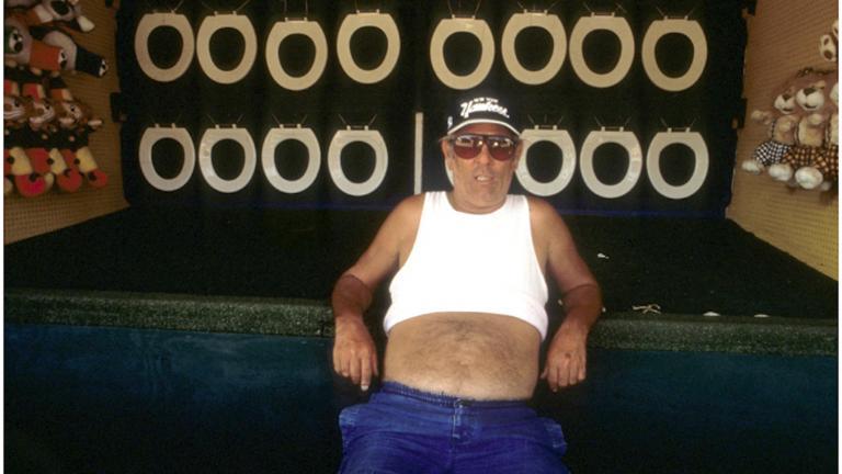 Coney Island Worker, 1995. Photograph by Harvey Stein.