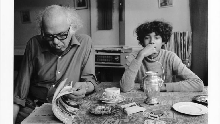 Alex la Guma and son, Barto. London, United Kingdom, 1972. George Hallett.