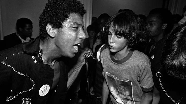 HR and Charley Davis, Hard Art Gallery, 9/15/79. Photograph by Lucian Perkins.