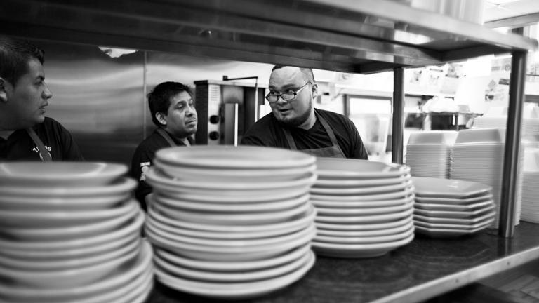 Antonio at his family's restaurant, Tacos Lupita, Lynn, Massachusetts, 2013