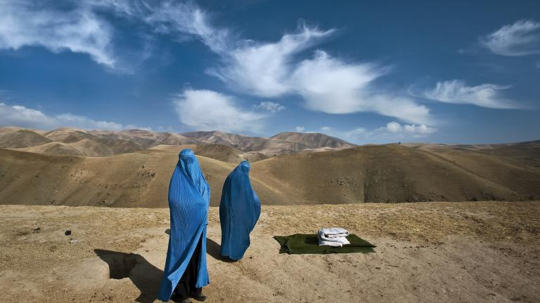 I saw two women on the side of the mountain, in burkas and without a man. In Afghanistan you seldom see an unaccompanied woman. Noor Nisa, about 18, was pregnant; her water had just broken.