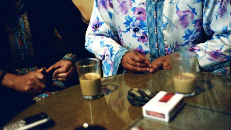 Ghita and Khadija in a café, Morocco, 2008
