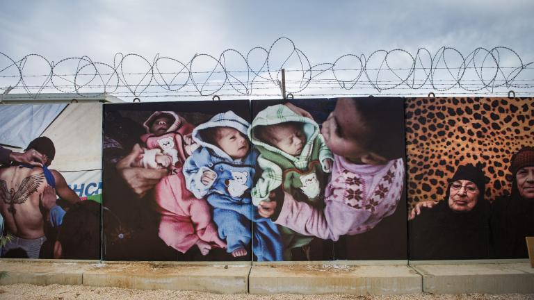 Za'atari Wall #1, Za'atari Refugee Camp, Jordan, 2014