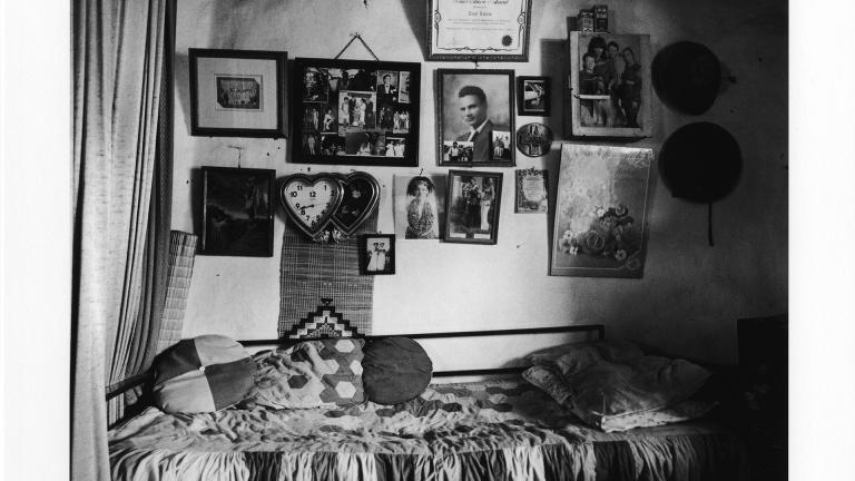 The home of Amy Madhlawu Louw, grandmother of the photographer. iVuna, KwaZulu-Natal, 2001. Cedric Nunn.