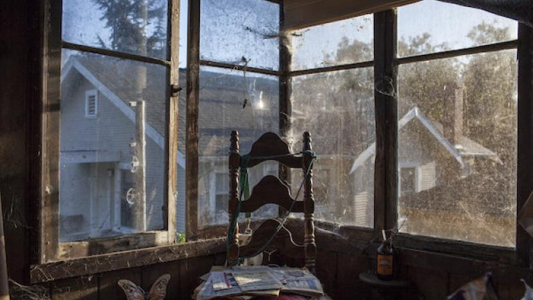 "Photograph from ""House of Charm"" by Jessica Eve Rattner, winner of the 2016 CDS Documentary Essay Prize in Photography. Chair, Lee's house, Berkeley, California, 2015."