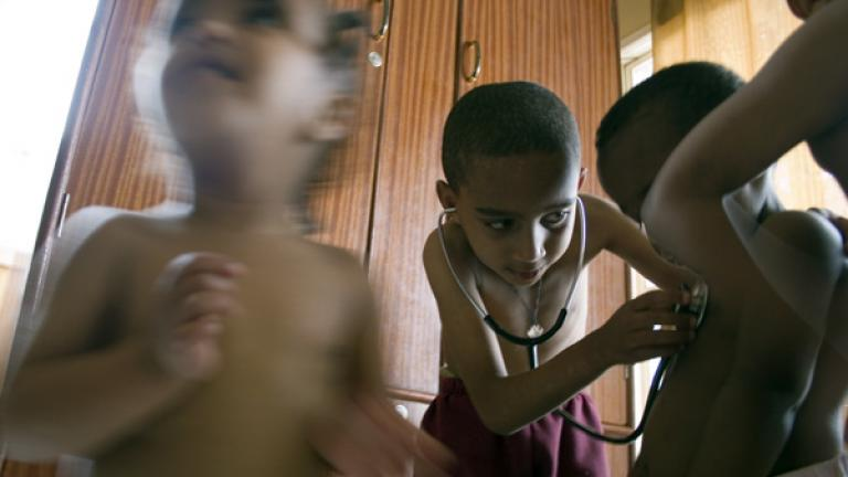 Dreams of being a doctor  When I asked Tesfaye what he wants to be when he grows up, he answered that his dream is to be a doctor. The next day, a group of doctors came to the home to do check-ups, and Tesfaye received his first medical lesson.