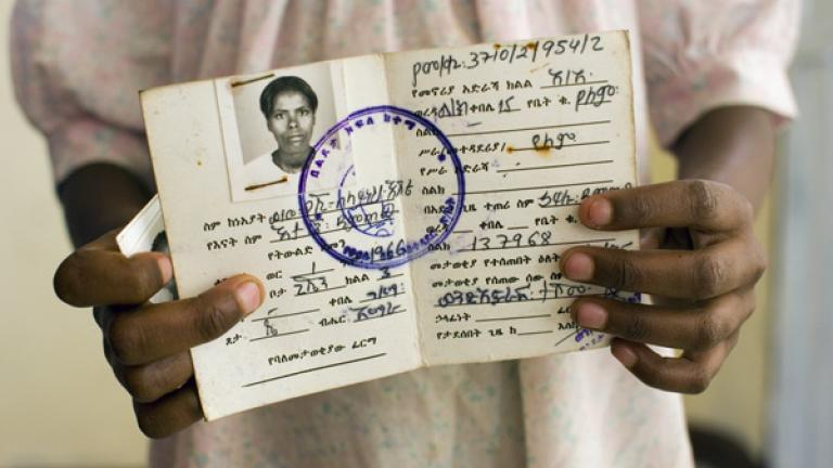 Identification card - Alem shows off her mother's identification card, one of the only items she brought with her to the group home.