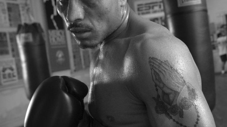 Luciano Perez, Windy City Boxing Gym, Chicago, Illinois, 2003