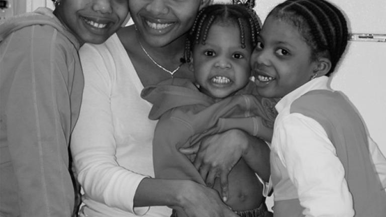 I believe my daughters are a gift from God. If it wasn't for them, I would probably still be on the run, running from whoever knows what I was running from.--Kim