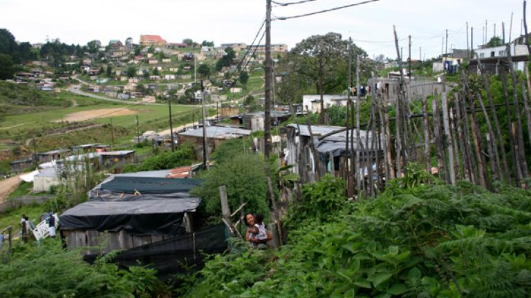 Though apartheid, the governmental policy of forced separation based on race, formally ended in 1994, almost every city has a township at its outskirts where the majority of the black and 'coloured' populations live, typically in poor conditions.