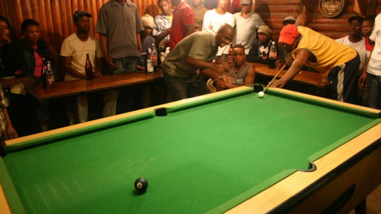 Because there are few places to gather, the township's social life revolves around tavern pool tournaments and dance parties, further worsening the amount of alcoholism and alcohol-related violence.