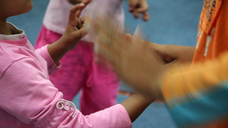 Many friendships were created in games where the children used their hands.