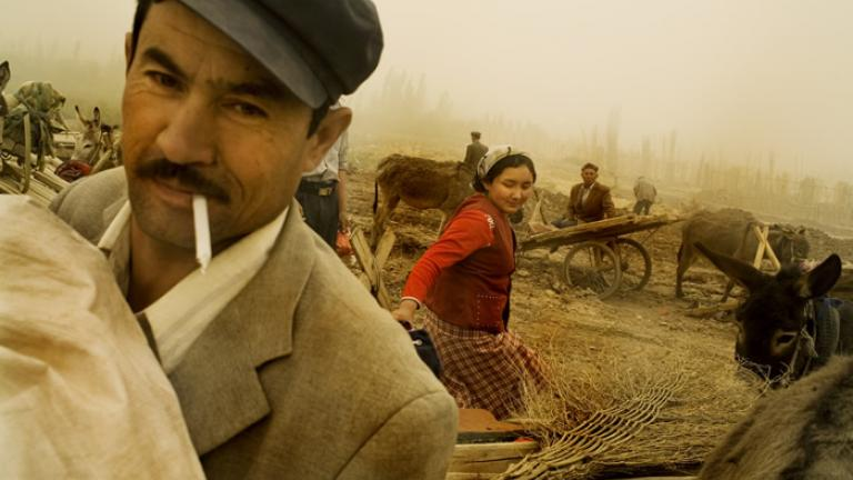 Scene in a traditional Uighur market, Xinjiang Uighur Autonomous Region, China, 2007