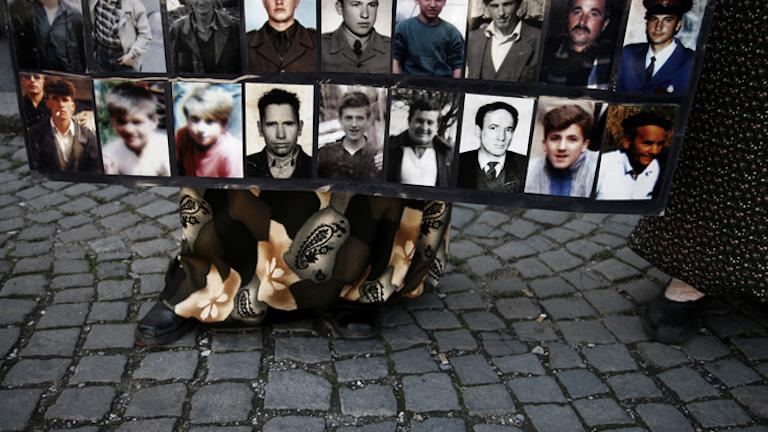 A Mothers of Srebrenica vigil commemorating the events of July 11, 1995, Srebrenica, 2006
