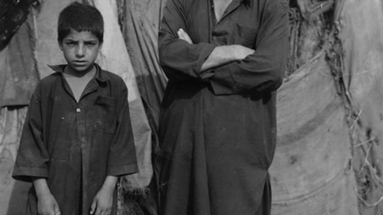 Survivors of a massive earthquake that killed 80,000 people and displaced 3.5 million survivors, IDP (internally displaced persons) camp, Muzaffarabad, Pakistan-administered Kashmir, 2005
