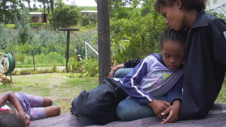 Farm laborers' children, Hirsenbosch, Western Cape