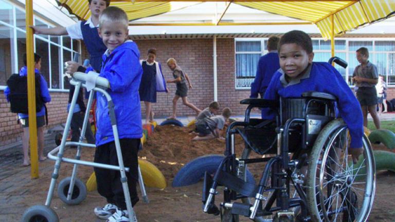 Morning play time, Ramfontein, Free State