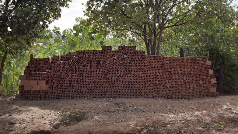 Dear Husband, We are going to build our home with these bricks. I bought them with the money you sent.--Delicia