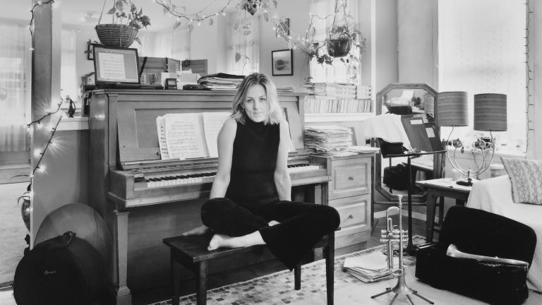 Ingrid Jensen, trumpeter, Queens, 2003