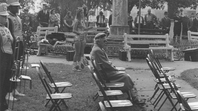 Veterans Day, Willis Park, 1969. Photograph by Paul Kwilecki.