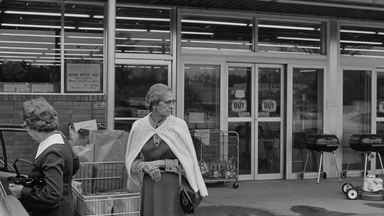 Grocery store, 1977. Photograph by Paul Kwilecki.
