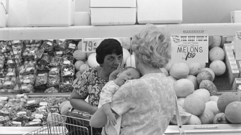 Grocery store, 1978. Photograph by Paul Kwilecki.