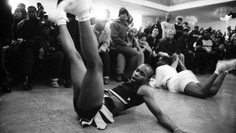 Butch Queen Vogue Femme performers, YMCA, Brooklyn, 1998. Photograph by Gerard H. Gaskin.