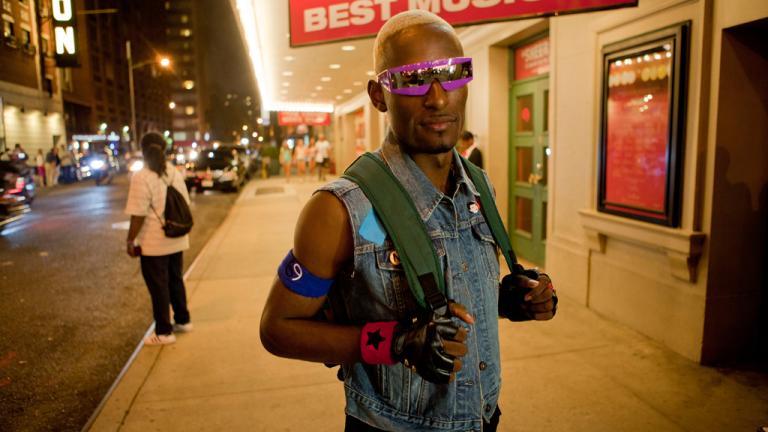 Dashaun outside the Latex Ball, Manhattan, 2011. Photograph by Gerard H. Gaskin.
