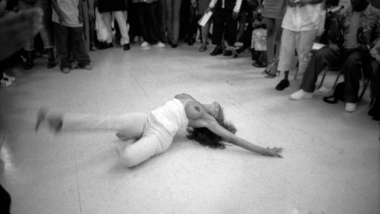 Femme Queen voguing, YMCA, Brooklyn, 2000. Photograph by Gerard H. Gaskin.