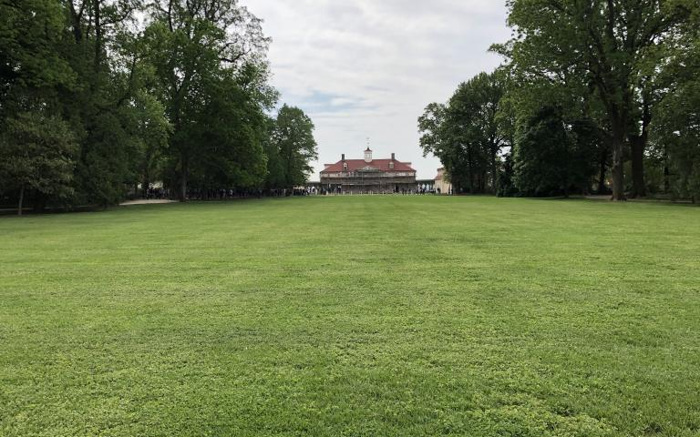 A photo of the lawn at Mount Vernon. Photo by John Biewen.