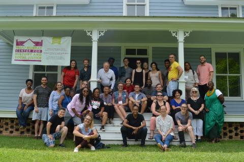 Participants at the first NEH-funded summer institute in 2018 toured the Pauli Murray Center for History and Social Justice.