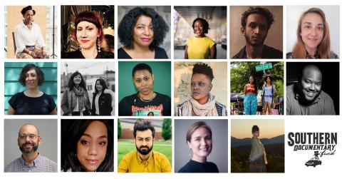 A collage of portraits featuring grantees