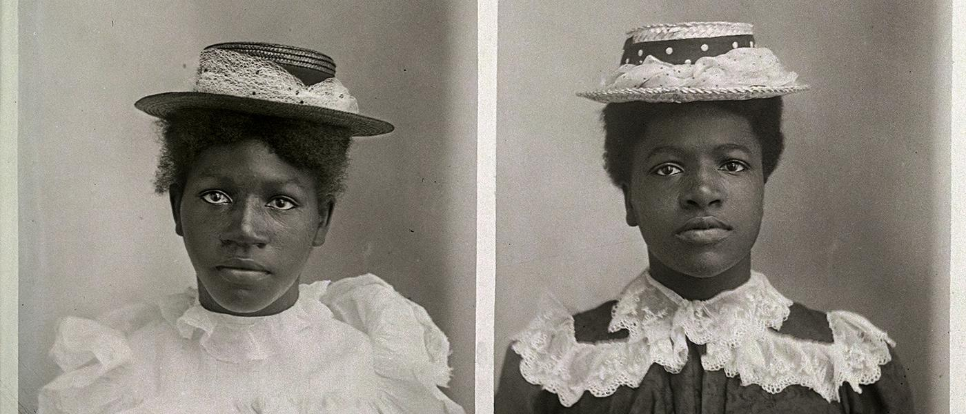 Portraits of two women from Hugh Mangum's archives