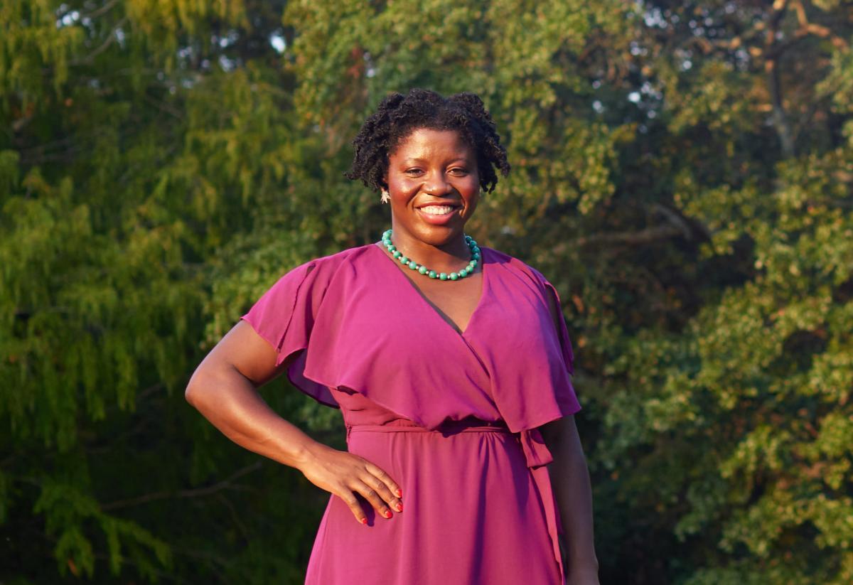 Photo of Opeyemi Olukemi. Forest Hills Park, Durham, North Carolina. Photograph by Samantha Everette.
