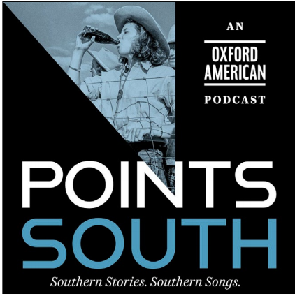 """The logo for the """"Points South"""" podcast."""