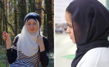 Photo: Left, Safiya Gallaghan, photo courtesy Safiya Gallaghan. Right, Reem Alfahad, photo by JohnFer Henao.