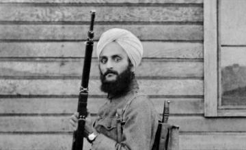 Bhagat Singh Thind in U.S. Army uniform. Smithsonian Institution