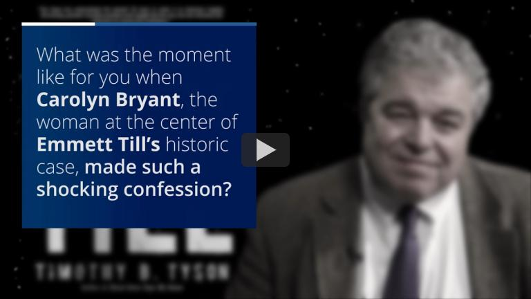 CDS Senior Research Scholar Tim Tyson Reflects on Confession in Emmett Till Case